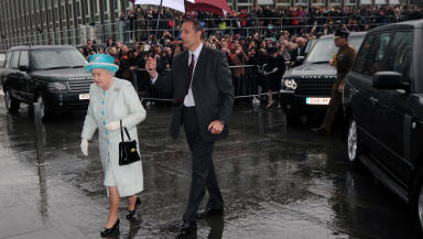 Queen Elizabeth II officially opens Duncan Rice Library at University of Aberdeen