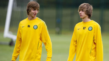 Celtic's Patrik Twardzik (right) and brother Filip.