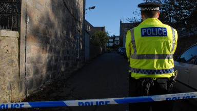 Murder inquiry: The area has been cordoned off by police.