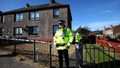 Scene in Mayfield Drive, Armadale where Robert Simpson was killed.
