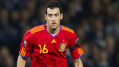 Barcelona and Spain midfielder Sergio Busquets.