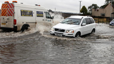 Flooding in Methill, Fife.