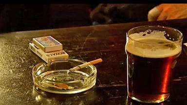 Smoking: banned in Scotland's pubs in 2006.