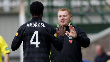 Neil Lennon praised Efe Ambrose after the Nigerian scored his first goal for the Parkhead club.