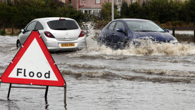 Warning: Roads flooded across Scotland (file pic).