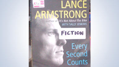 Lance Armstrong's memoir Every Second Counts labelled fiction by Glasgow charity shop Age Scotland following allegations of doping.