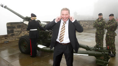 Ally McCoist unveils Rangers Charity Foundation's bid to raise £25,000 for soldiers charity.