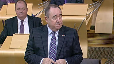 Alex Salmond during First Minister's Questions on Thursday over the EU legal advice row.