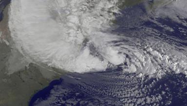 Hurricane Sandy satellite shot from NASA