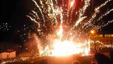 Firework display goes mental at Pentland Community Centre, Oxgangs.