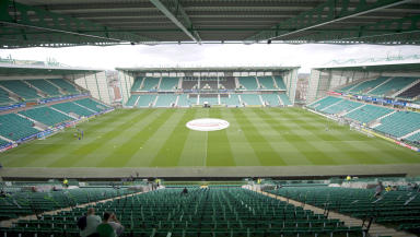 Hibernian FC's home ground Easter Road. Quality generic image.