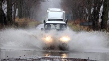 Floods in Comrie in Fife, November 19 2012