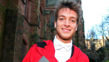 Paolo Nutini. Honorary doctorate. University of the West of Scotland.