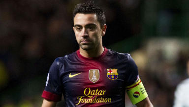 Xavi Hernandez in action for Barcelona
