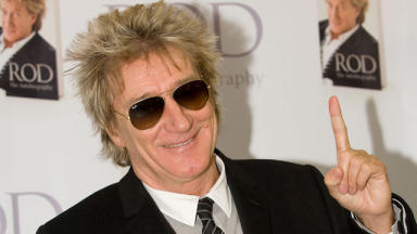 In the clear: Sir Rod Stewart is cancer-free.