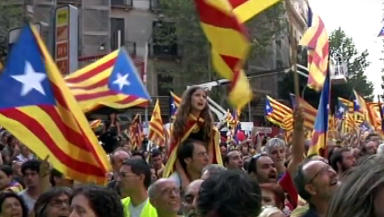 Catalan independence rally, Barcelona, Catelonia