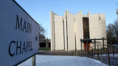 Mortonhall crematorium in Edinburgh. December 2012 quality image