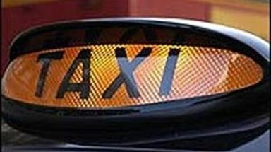Taxi: A man collided with the car after a disturbance within.