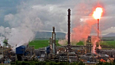 Warning: Maintenance failures caused the flaring at Mossmorran (file pic).