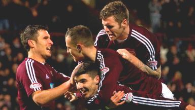 John Sutton, Callum Paterson, Gordon Smith and Darren Barr, Hearts, December 2012.