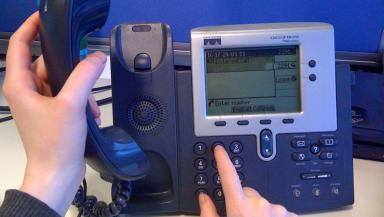 Generic of a landline phone.