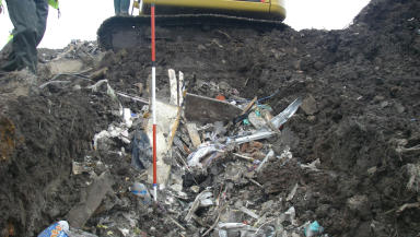 Waste dumped at Doonin Plant in West Lothian.