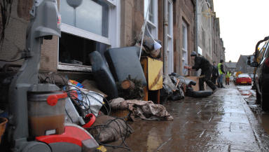 Stonehaven flood clear-up 2012