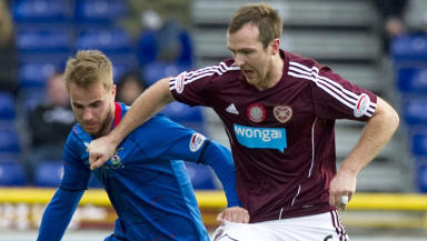 Andrew Shinnie of Inverness and Andy Webster of Hearts, December 2012.
