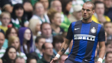 Wesley Sneijder in action for Inter Milan.