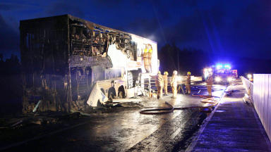 A9 lorry fire Carrbridge to Tomatin