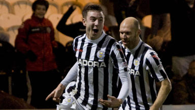 Paul Dummett in action for St MIrren