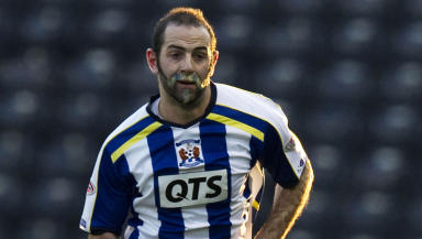 Gary Harkins in action for Kilmarnock