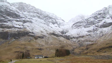 Rescue: Two men were rescued from Glencoe on Saturday.