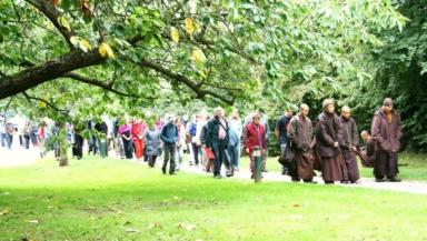 Peace Walk: The silent walking meditation will take place on March 17.