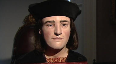 Reconstruction of  King Richard III's face done by Dundee University team