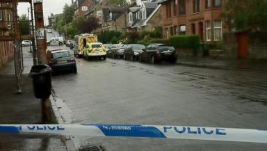 Murder scene death of Lynda Brown killed by partner Peter Cumming in Mannering Road, Shawlands, Glasgow