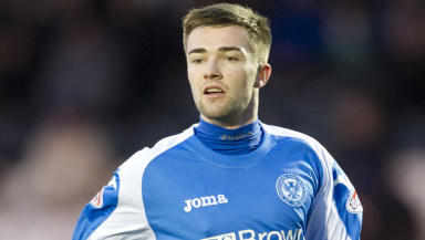 Gwion Edwards makes his St Johnstone debut