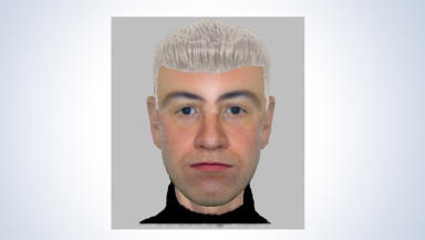 E-fit: The police released the image of the suspect in the Airdrie robbery.