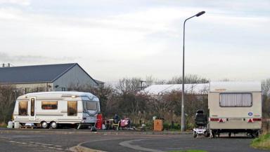 GV of traveller caravans