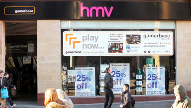 The HMV store in Glasgow's Buchanan Street.