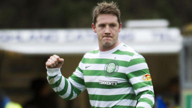 Kris Commons scores for Celtic against Inverness.