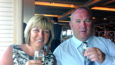 James and Karen McArthur on the Thomson Majesty.