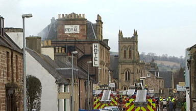 Fire at the Royal Hotel in Dingwall Feb 11 2013