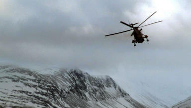 Caringorm avalanche rescue RAF helicopter February 14 2013