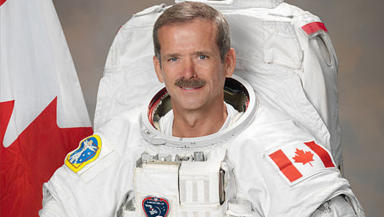 Canadian astronaut Chris Hadfield flight engineer on the International Space Station.