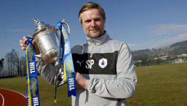 Falkirk manager Steven Pressley is all smiles as he previews the William Hill Scottish Cup Quarter Final against Hamilton.