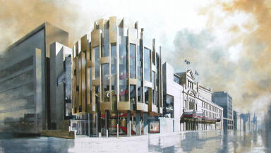 Artist's impression of the renovated Theatre Royal in Glasgow.