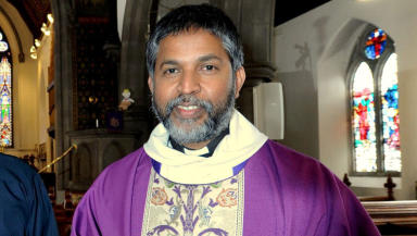 Rev Isaac Poobalan at St John's Episcopal Church Aberdeen March 2013