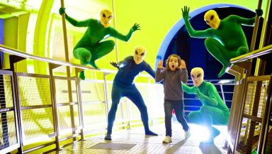 Alien Invasion: Children can meet the out of the world creatures at the exhibit.