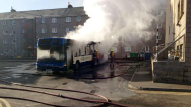 Perth Bus Station fire